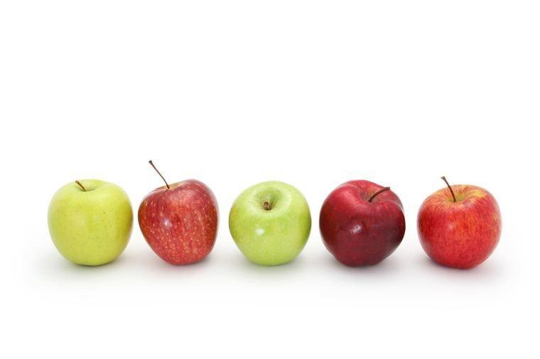 Сколько грамм в зеленом яблоке