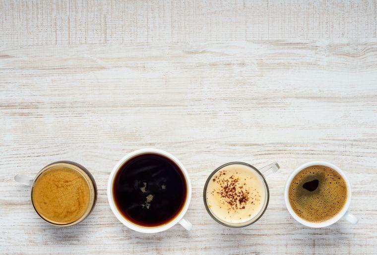 виды приготовленного кофе