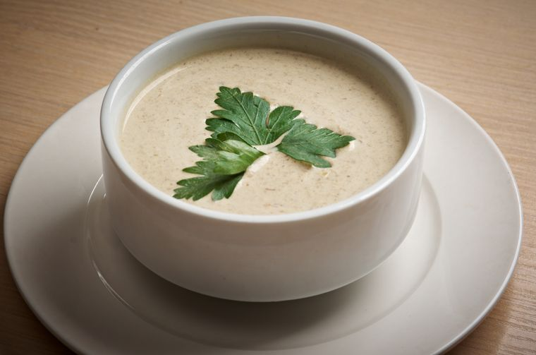 крем-суп с курицей
