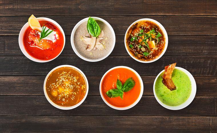 разные супы