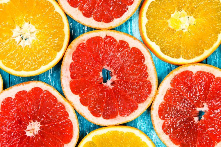 апельсины и грейпфруты