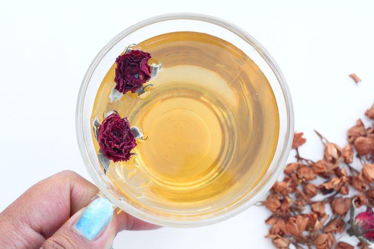 чай с розой и жасмином
