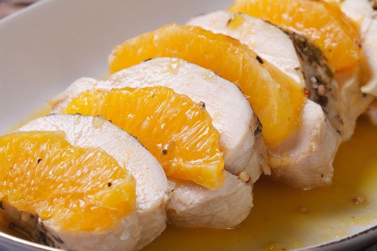 chicken and oranges