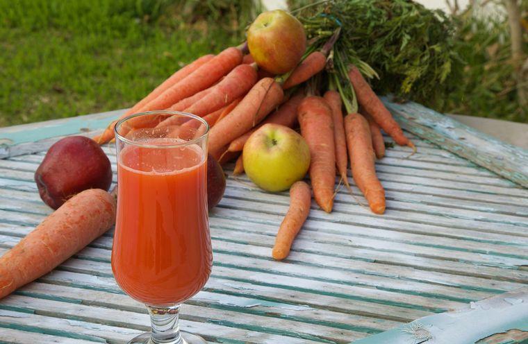 морковь и яблоки