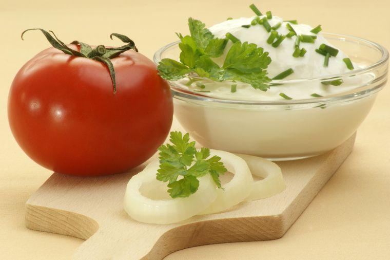 томат и творог