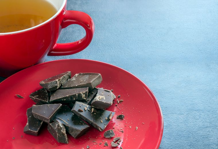 шоколад и травяной чай