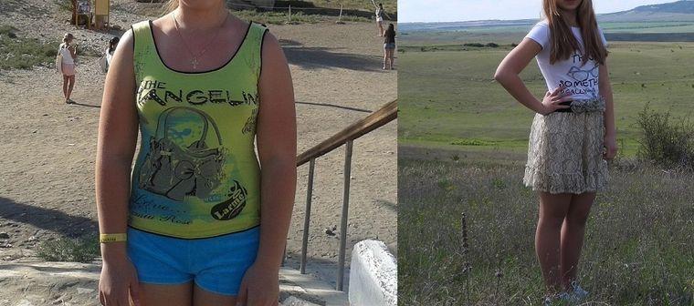 Виктория, 15 лет, похудела на 19 кг