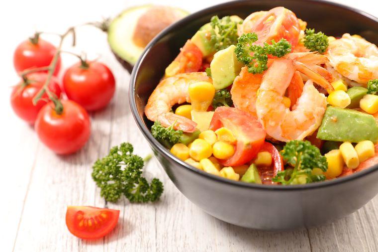 креветки с овощами