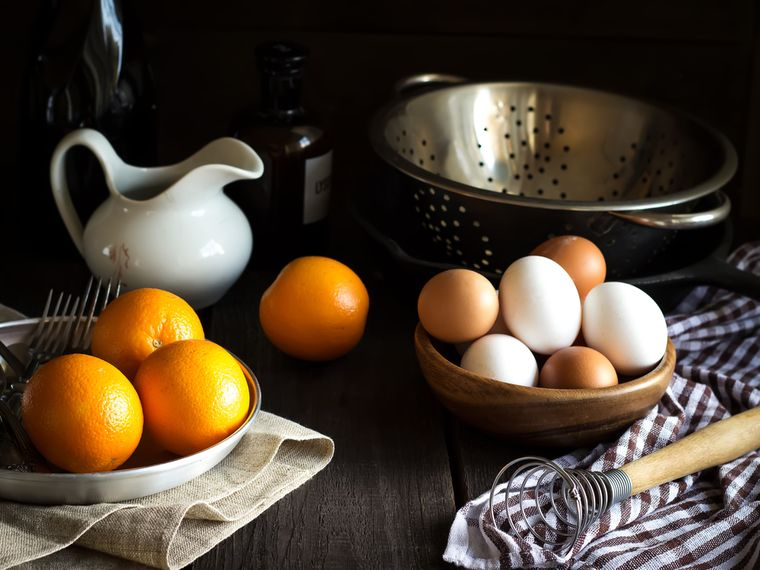 oranges and eggs