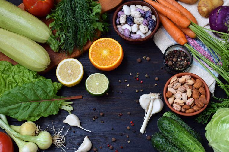 овощи, фрукты и орехи