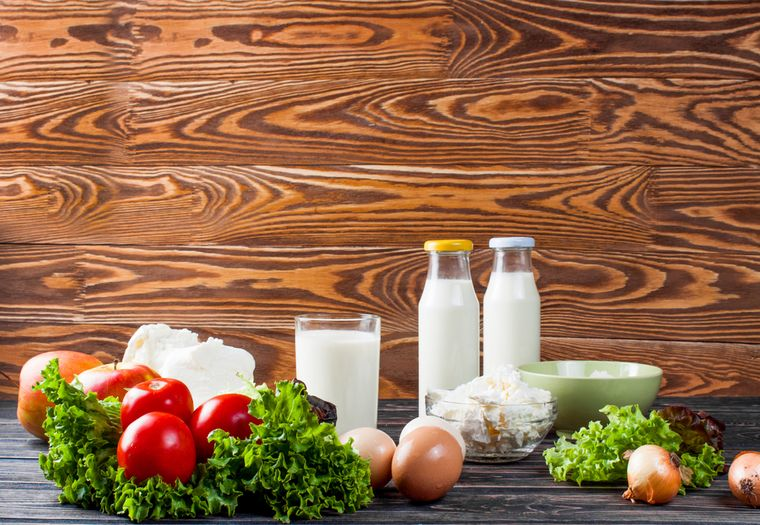 овощи и молочные продукты