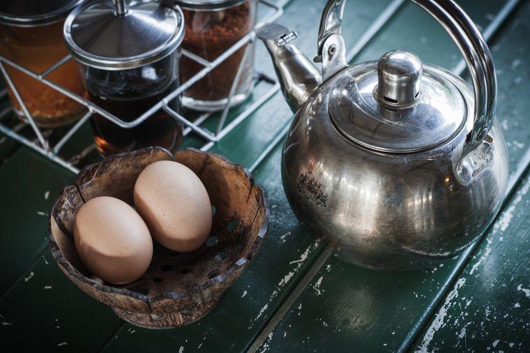 яйца и чай