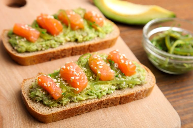 бутерброд с чукой и рыбой