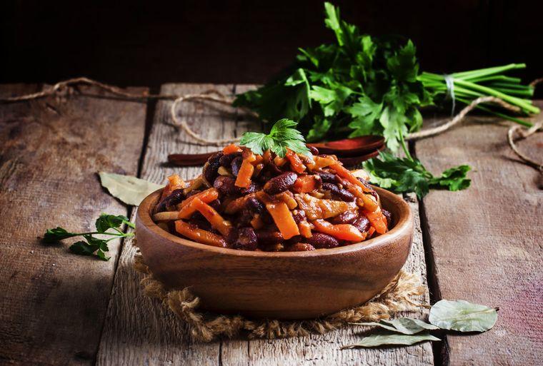 красная фасоль с овощами