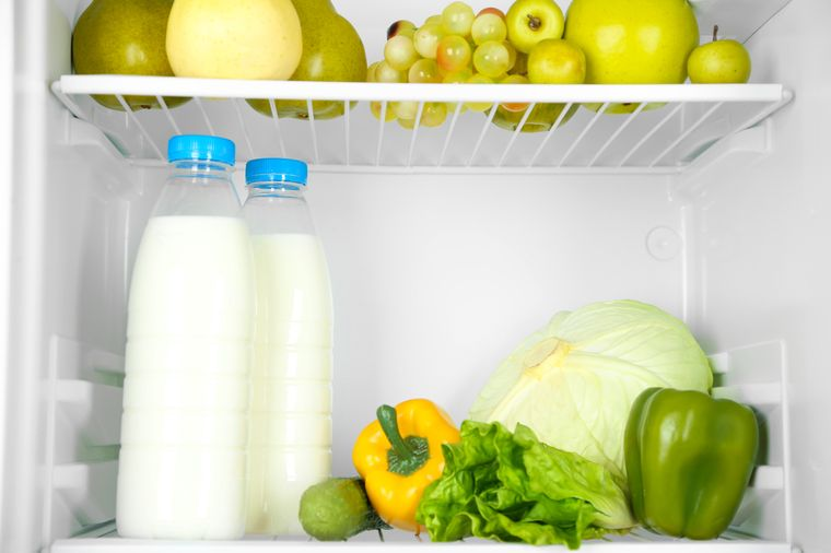молоко и овощи