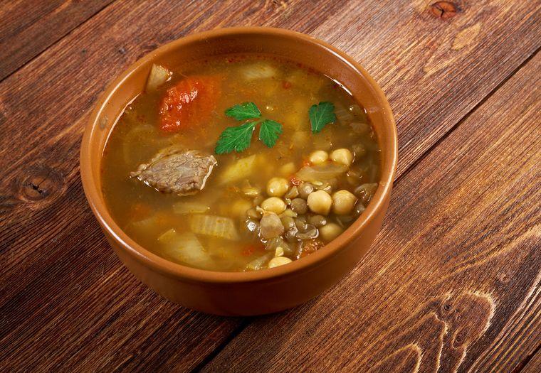 суп с чечевицей