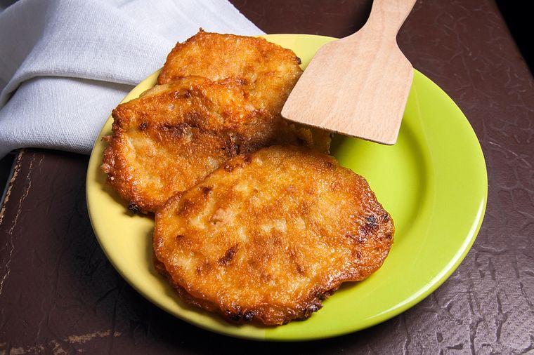 мясные оладьи с картофелем