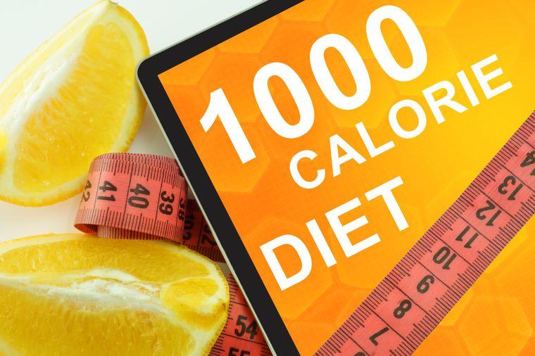 на диете 1000 калорий
