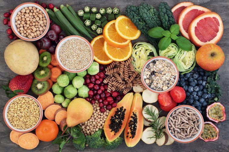 овощи фрукты и злаки