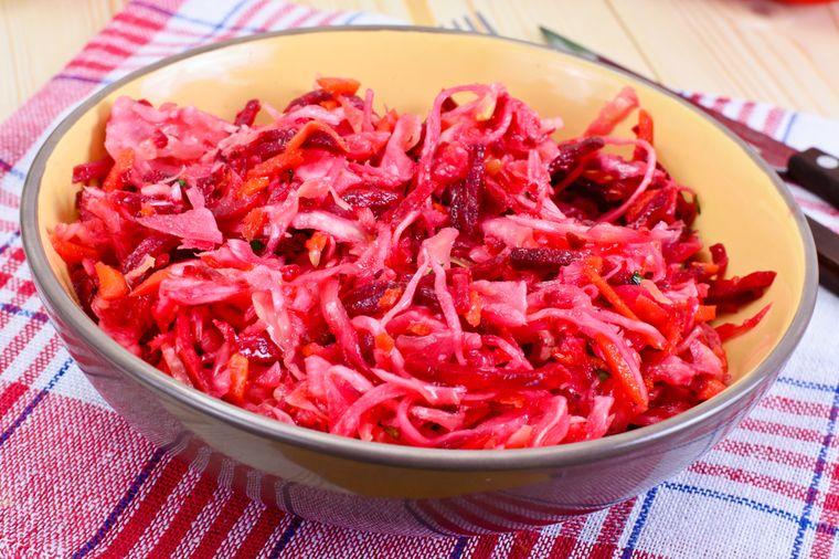 овощной салат щетка