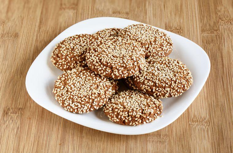 фитнес печенье с кунжутом