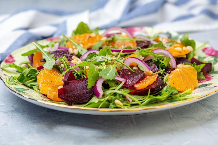 салат из свеклы с мандаринами