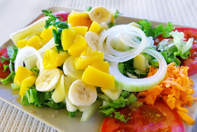 салат с бананом