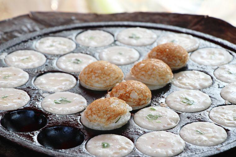 тайские рисово-кокосовые блинчики