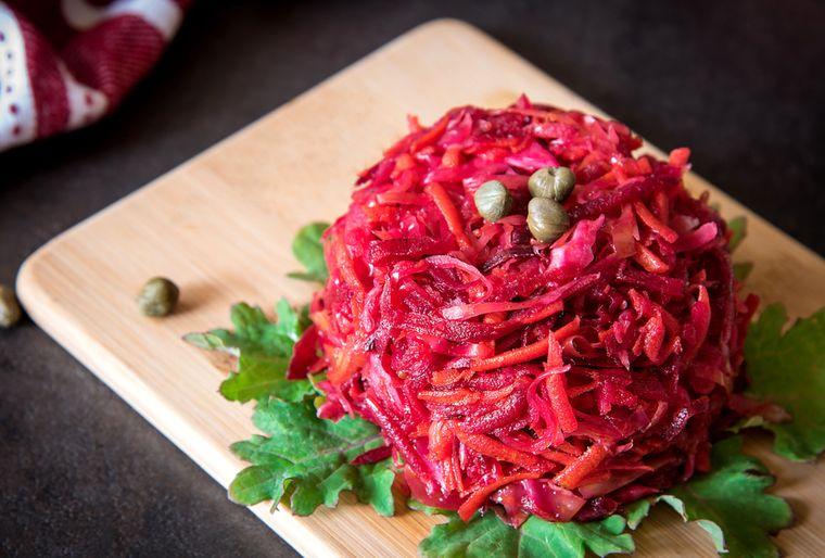 вкусный салат щетка
