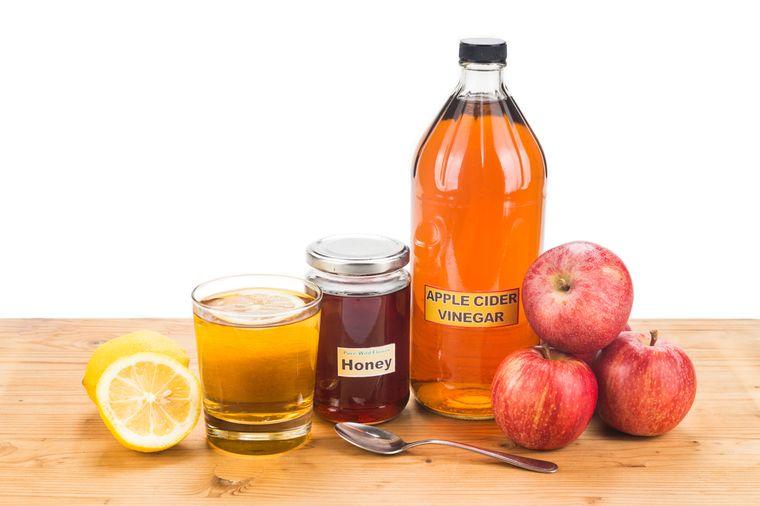 яблочный уксус, лимон и мед