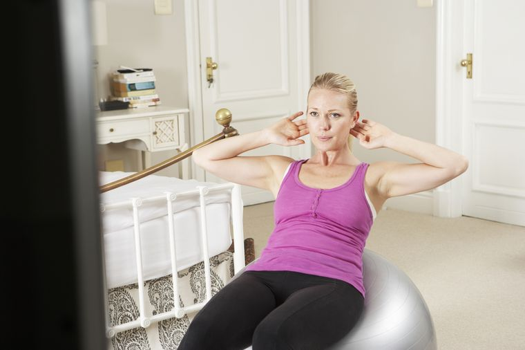 exercise with fitness dvd