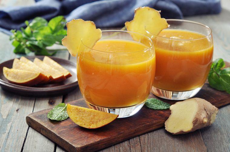 апельсиновый смузи с имбирем