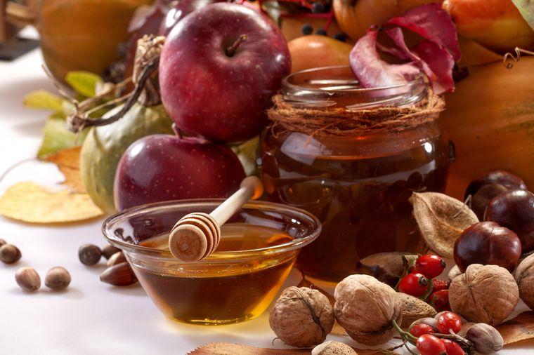 тыква с медом и яблоками