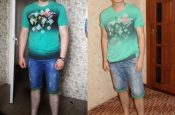 Денис, 22 года, избавился от 16 кг