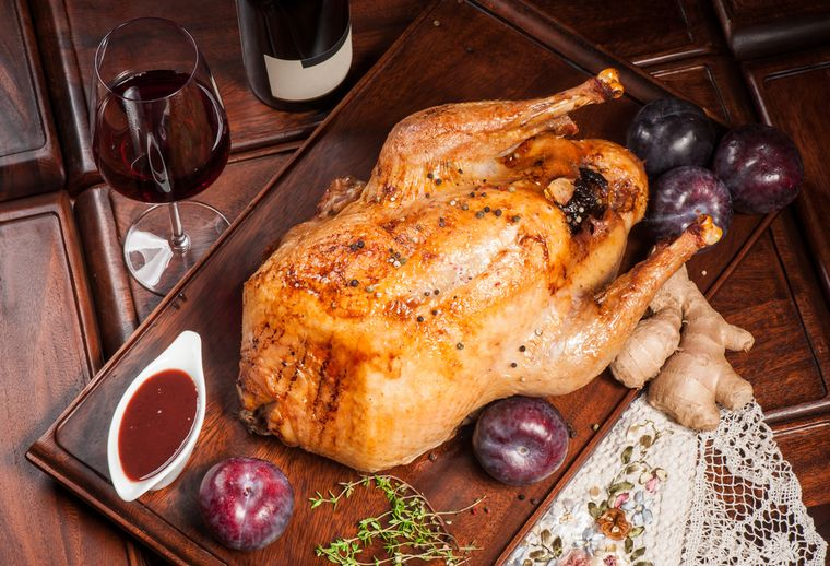 фаршированная курица с имбирем