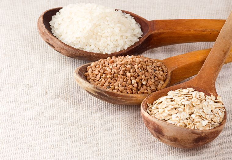 гречка овсянка и рис