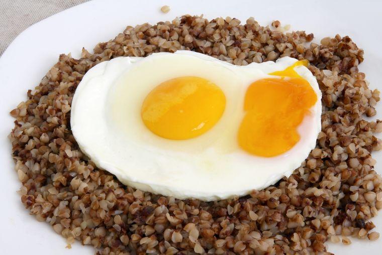 гречка с яйцом