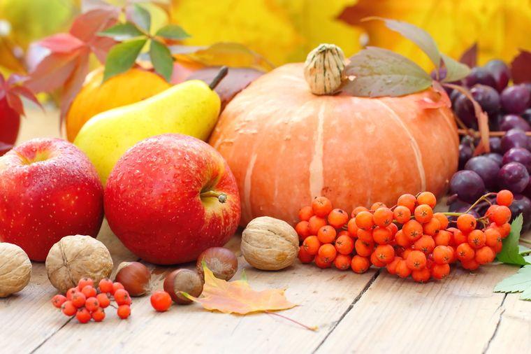 фрукты, овощи и орехи