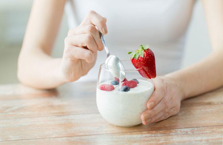 на йогуртовой диете