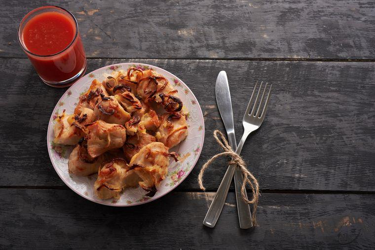 куриная грудка и томатный сок