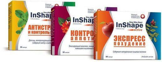inshape таблетки для похудения