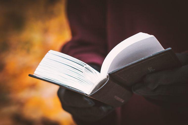 чтение во время прогулки