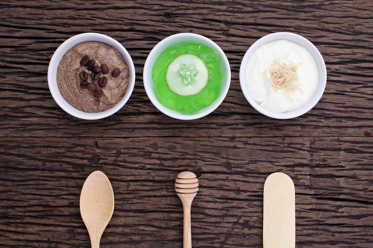 домашние скрабы с кофе, огурцом и йогуртом