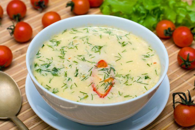 молочный суп с овощами