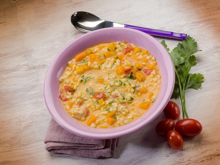 суп из перловой крупы с тыквой